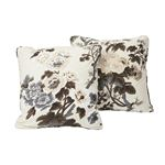 """So17445004 Pyne Hollyhock 18"""" Pillow Charcoal By Schumacher Furniture and Accessories 3"""