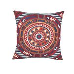 """So7447005 Corfu 20"""" Pillow Navy Multi By Schumacher Furniture and Accessories 1"""