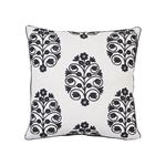 """So7209004 Talitha 18"""" Pillow Blackwork By Schumacher Furniture and Accessories 1"""