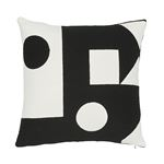 """So7569005 Binary Embroidery 20"""" Pillow Black By Schumacher Furniture and Accessories 1"""
