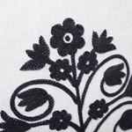 """So7209004 Talitha 18"""" Pillow Blackwork By Schumacher Furniture and Accessories 3"""