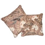 """So17293406 Lotus Garden 22"""" Pillow Mocha By Schumacher Furniture and Accessories 3"""