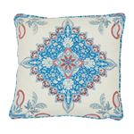 """So7648204 Montecito Medallion 18"""" Pillow Red By Schumacher Furniture and Accessories 1"""