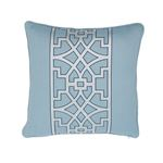 """So6618404 Don't Fret 18"""" Pillow Sky By Schumacher Furniture and Accessories 1"""