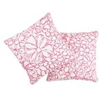 """So17955206 Sidonie 22"""" Pillow Magenta By Schumacher Furniture and Accessories 3"""