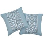 """So6618404 Don't Fret 18"""" Pillow Sky By Schumacher Furniture and Accessories 3"""