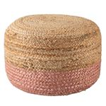 Oliana Ombre BeigeLight Pink Cylinder Pouf 1