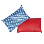 So17448714 Ziggurat Pillow Blue and Red By Schumacher Furniture and Accessories 3