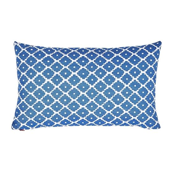 So17448714 Ziggurat Pillow Blue and Red By Schumacher Furniture and Accessories 1