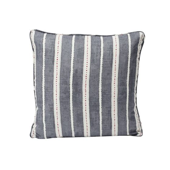 """So17694204 Amour 18"""" Pillow Charcoal By Schumacher Furniture and Accessories 1"""