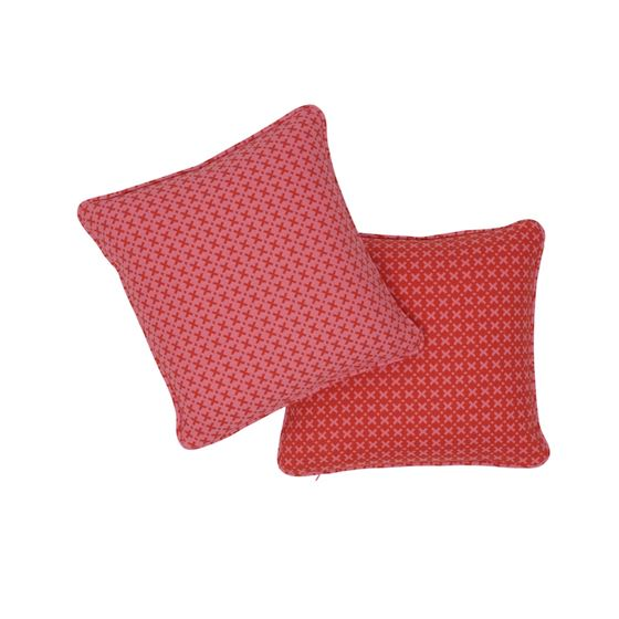 """So7720102 Elias 14"""" Pillow Pink and Red By Schumacher Furniture and Accessories 3"""