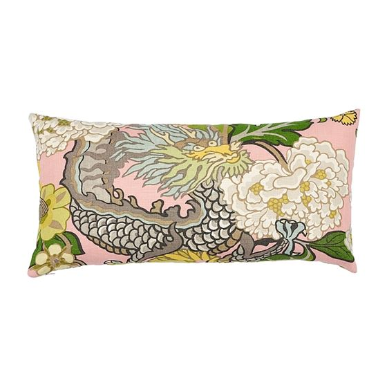So17328018 Chiang Mai Dragon Pillow Blush By Schumacher Furniture and Accessories 1
