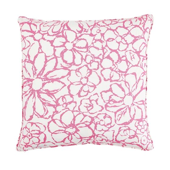 """So17955206 Sidonie 22"""" Pillow Magenta By Schumacher Furniture and Accessories 1"""
