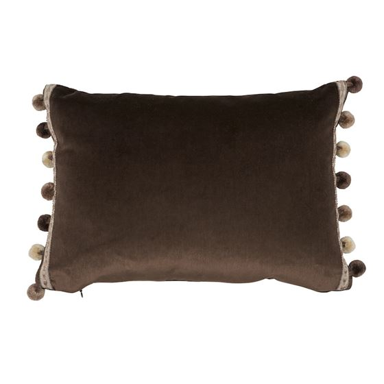 So6819911 Sophia Velvet Pillow Cocoa By Schumacher Furniture and Accessories 1