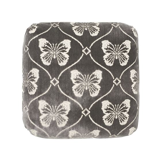 """So7296104 Papillion Velvet 18"""" Pillow Pewter By Schumacher Furniture and Accessories 1"""