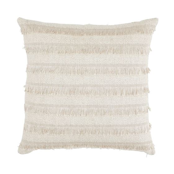 """So7265006 Acadia 22"""" Pillow Greige By Schumacher Furniture and Accessories 1"""