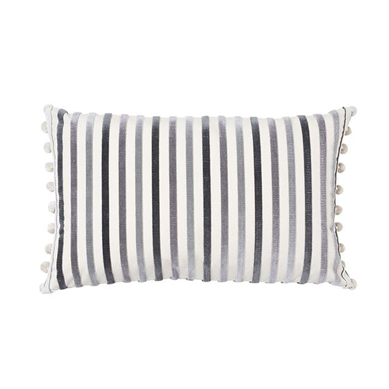 So7229314 Le Matelot Pillow Charcoal By Schumacher Furniture and Accessories 1