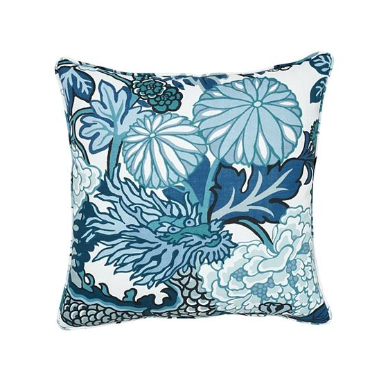 """So17731104 Chiang Mai I/O 18"""" Pillow China Blue By Schumacher Furniture and Accessories 1"""
