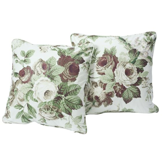 """So17720104 Nancy 18"""" Pillow Grisaille By Schumacher Furniture and Accessories 3"""