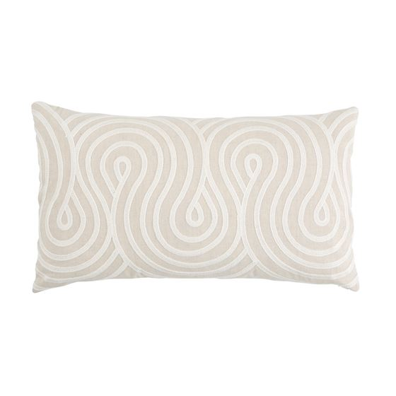 So7934231 Giraldi Embroidery Pillow Natural By Schumacher Furniture and Accessories 1