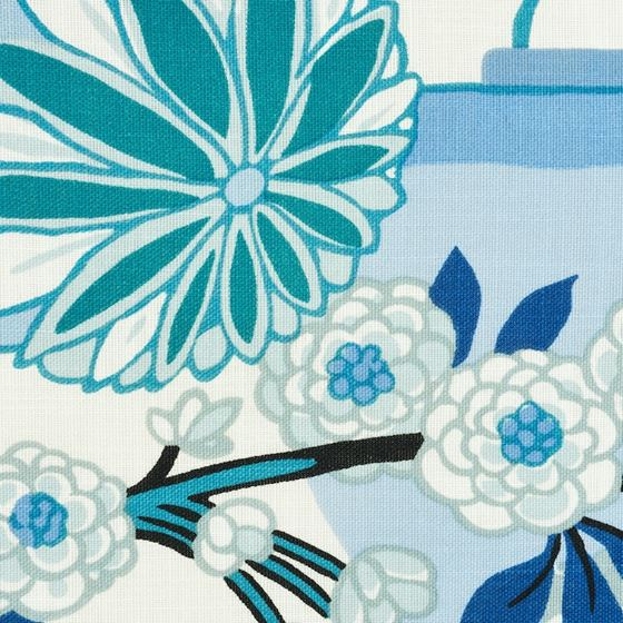 """So17731104 Chiang Mai I/O 18"""" Pillow China Blue By Schumacher Furniture and Accessories 3"""
