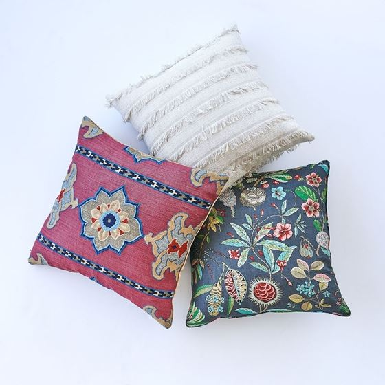 """So7265006 Acadia 22"""" Pillow Greige By Schumacher Furniture and Accessories 3"""