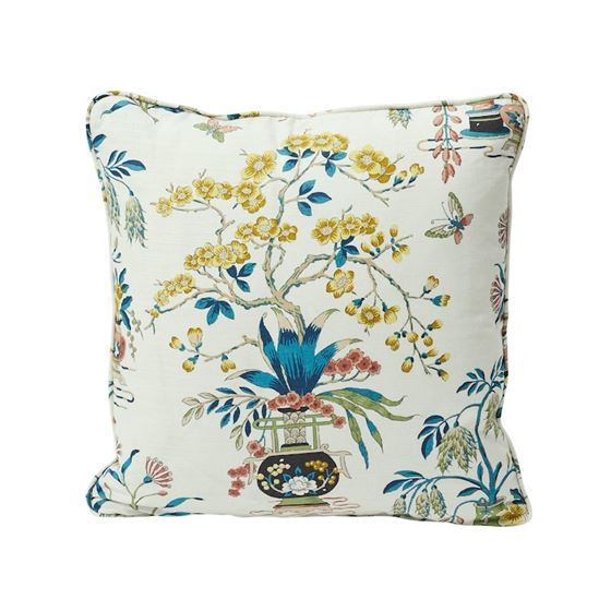 """So17673204 Ming Vase 18"""" Pillow Multi By Schumacher Furniture and Accessories 1"""
